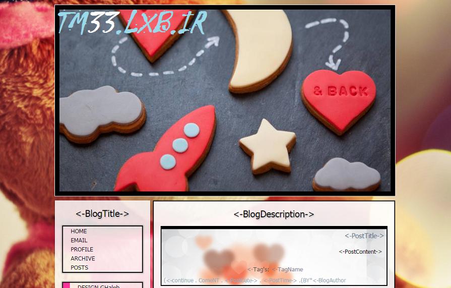 قالب زیبای BACK برای بلاگفا و لوکس بلاگ